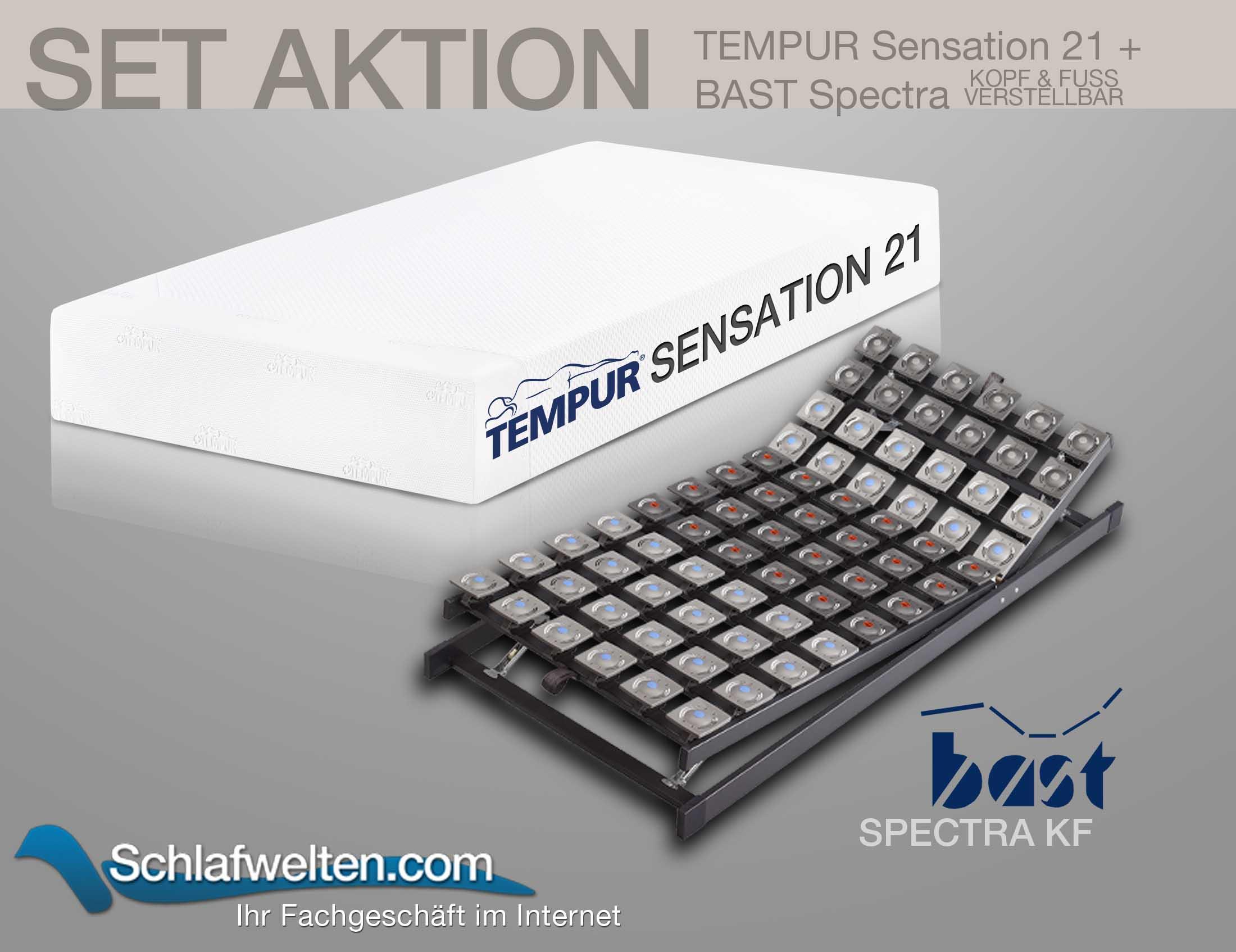 TEMPUR Sensation 21 Matratze mit Spectra KF Tellerrahmen | Schlafzimmer > Matratzen > Matratzen-Sets | Tempur