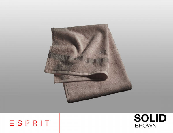 Esprit Frottierserie solid brown