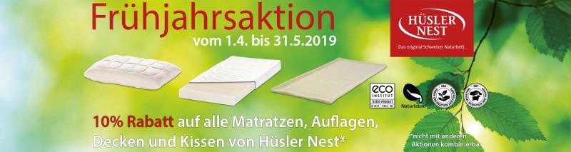 08b3a3975ff7a0 Hüsler Nest Frühjahrsaktion 2019 - 10% Rabatt auf Matratzen