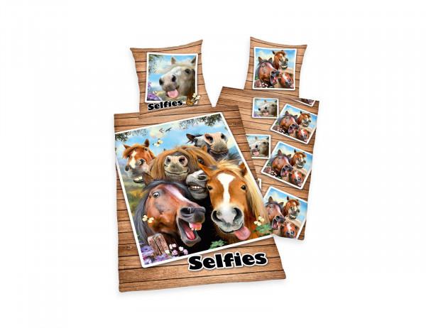 Pferdebettwäsche Bettwäsche Selfie Pferde Schlafweltencom